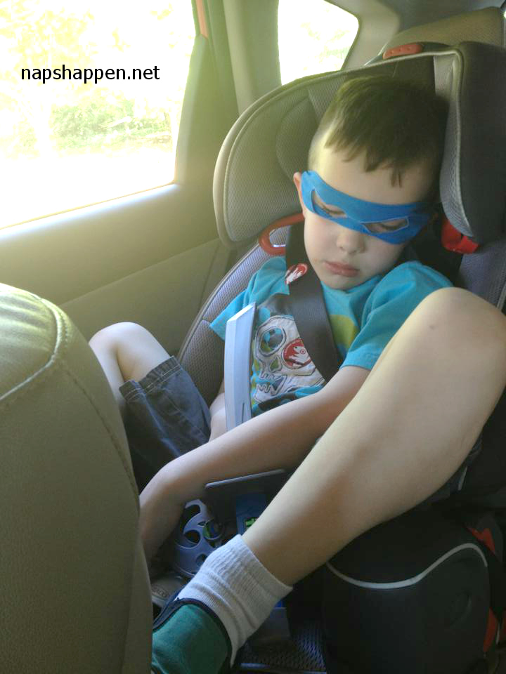boy asleep in costume
