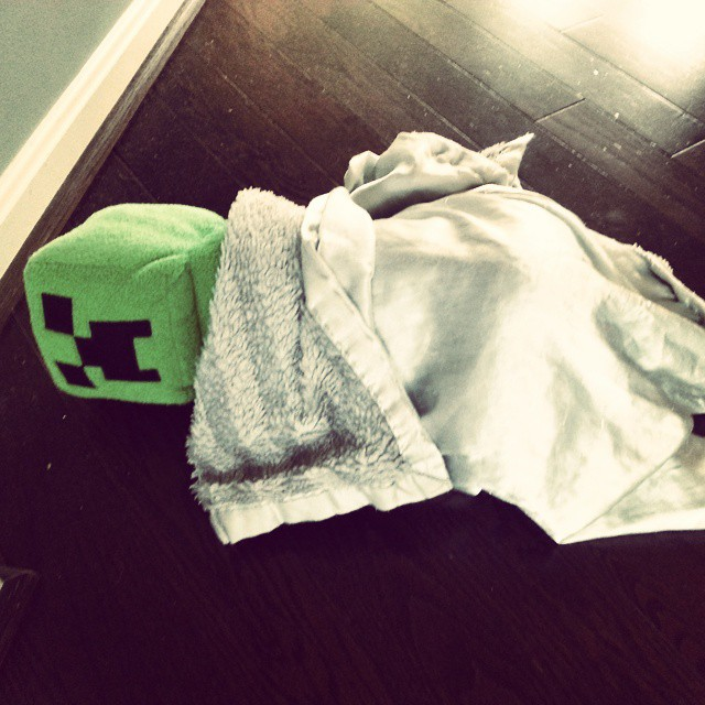 sleeping Minecraft Creeper